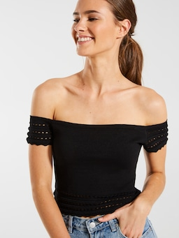 Sarita Off The Shoulder Knit Top
