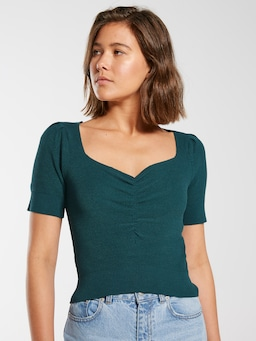 Rouched Front Knit Top