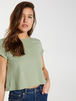 Cropped Turnback Tee