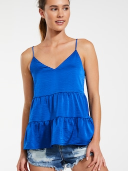 Tiered Satin Cami