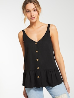 Linen Blend Rhianna Button Through Cami
