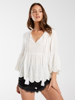 Broderie Cut Out Top