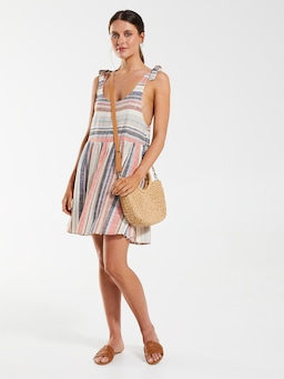 Linen Blend Beach Dress