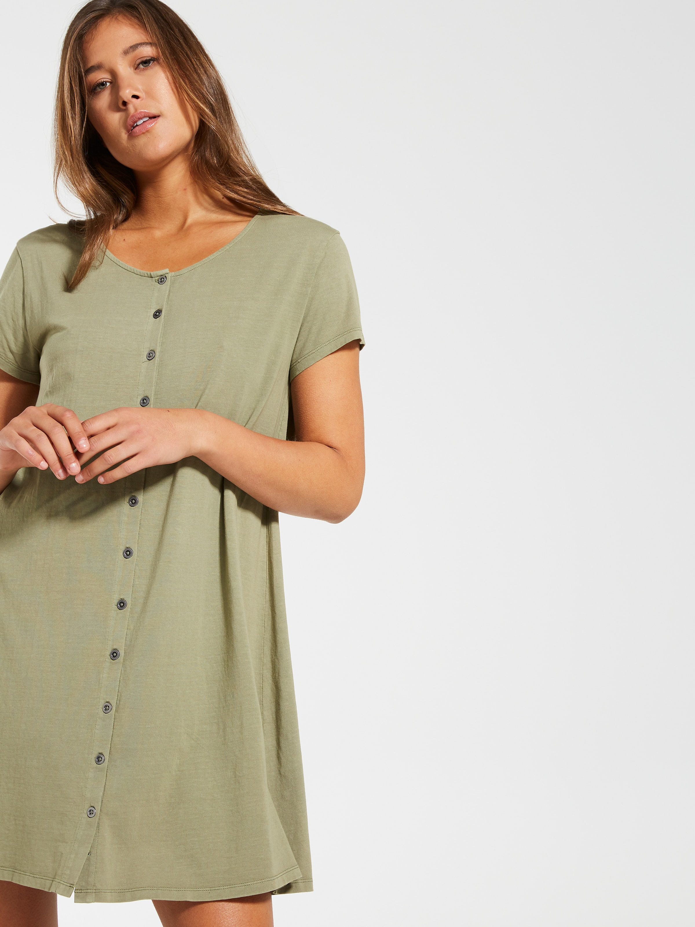 be78319d4fe9 Image for Lily T-Shirt Button Through Dress from Dotti Online ...