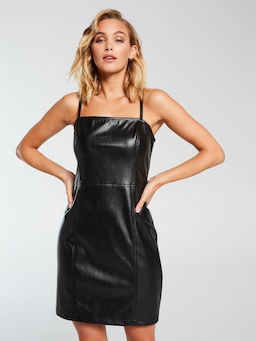 Kylie Faux Leather Mini Dress