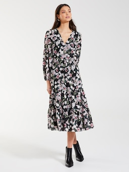 Julie Long Sleeve Midi Dress
