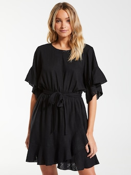 Linen Blend Megan Dress