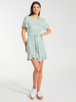 Linen Blend Frankie Tea Dress
