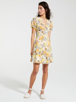 Linen Blend Riley Tea Dress