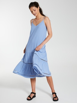Linen Blend Zanna Midi Dress