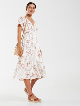 Maya Short Sleeve Midi Dress
