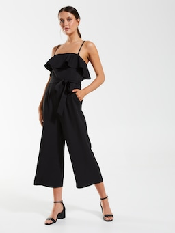 Strapless Frill Jumpsuit