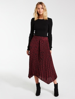 Eden Pleated Midi Skirt