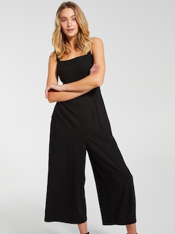 Linen Blend Majorca Square Neck Jumpsuit