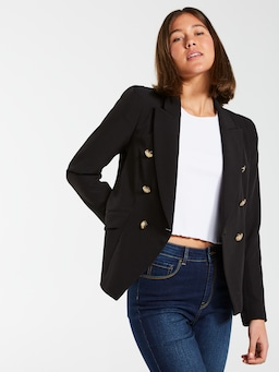 Fitted Military Blazer