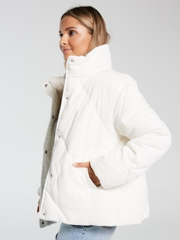 Cord Puffer Jacket