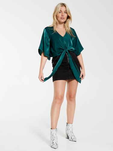 Samantha Tie Front Blouse