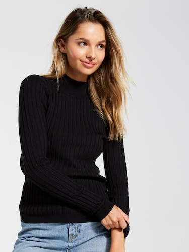 Mock Levels Long Sleeve Knit Top