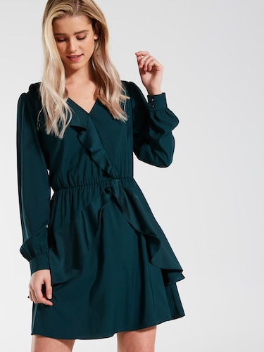 Liz Long Sleeve Frill Skater Dress