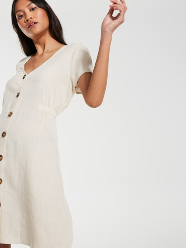 Linen Blend Amalfi Dress