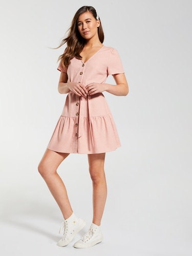 Tilly Frill Button Thru Dress