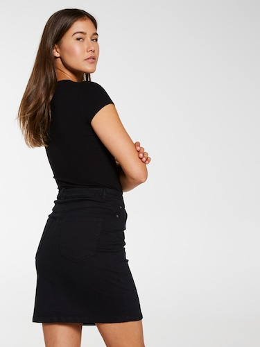 Chrissie Stretch Denim Pencil Skirt