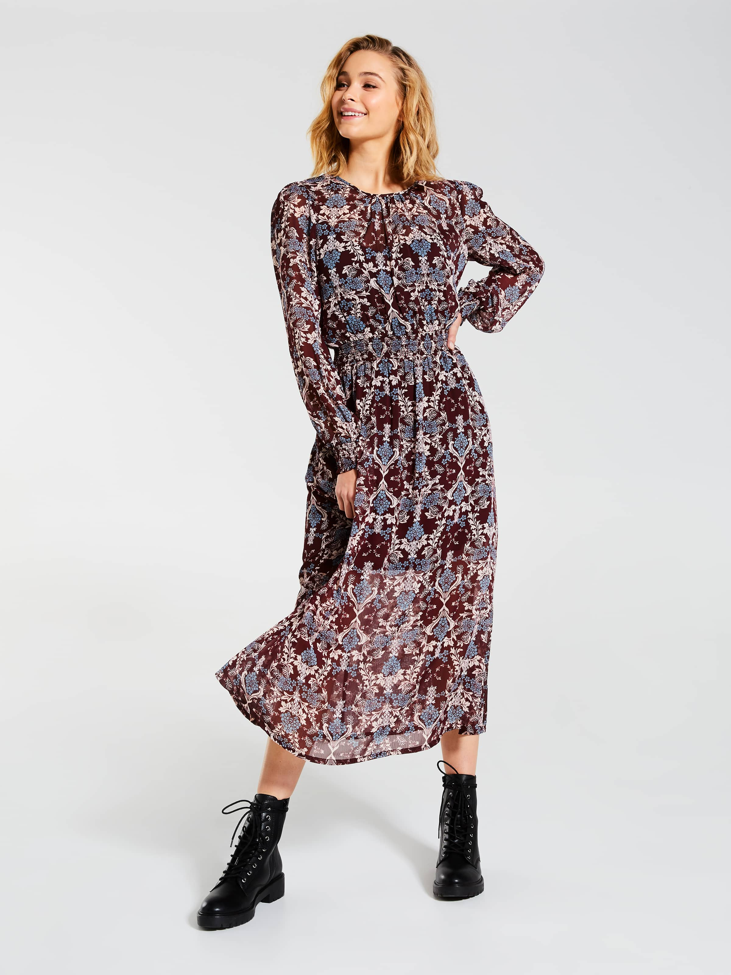Sienna Long Sleeve Midi Dress