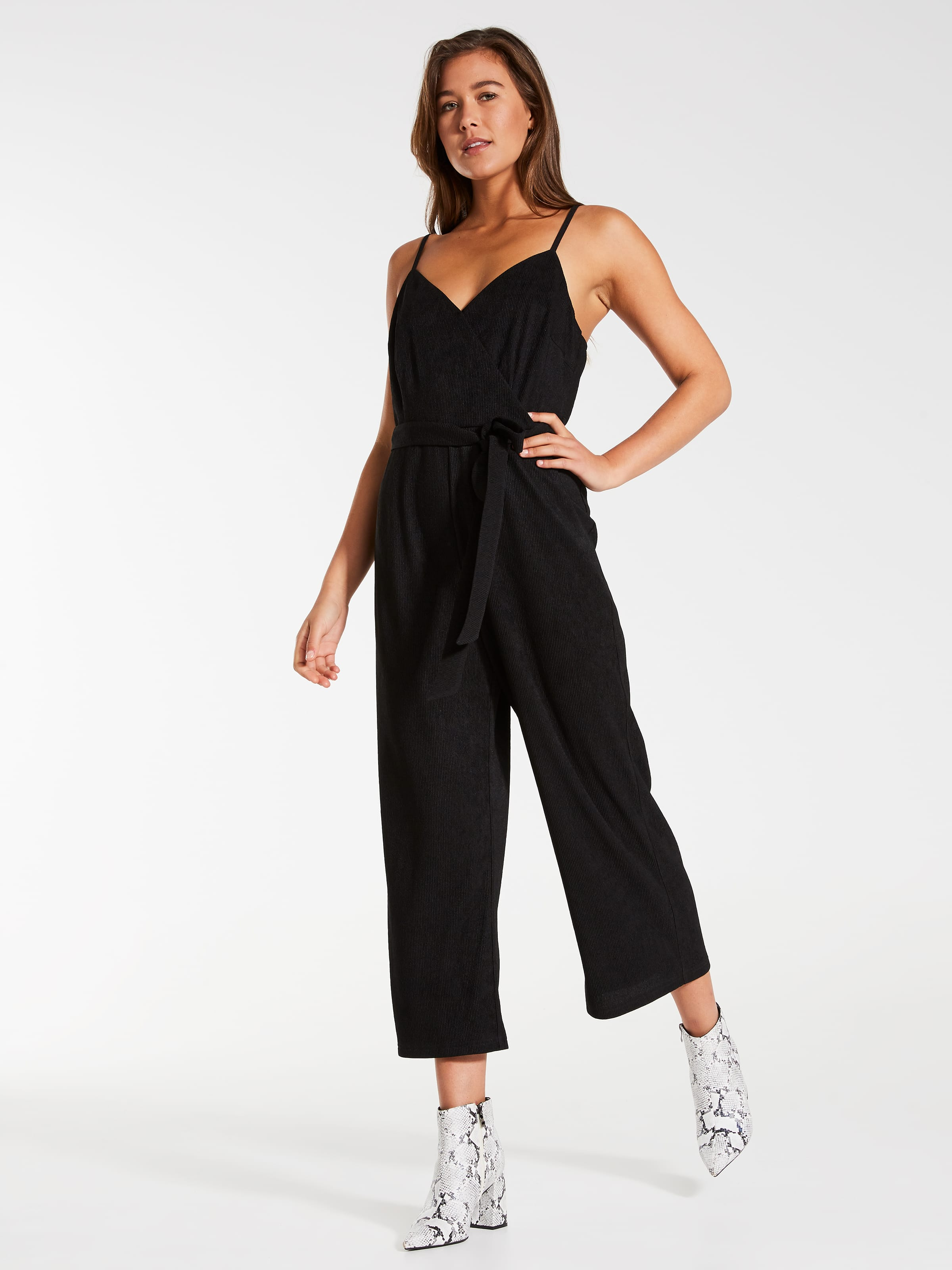 New Knit Wrap Culotte Jumpsuit