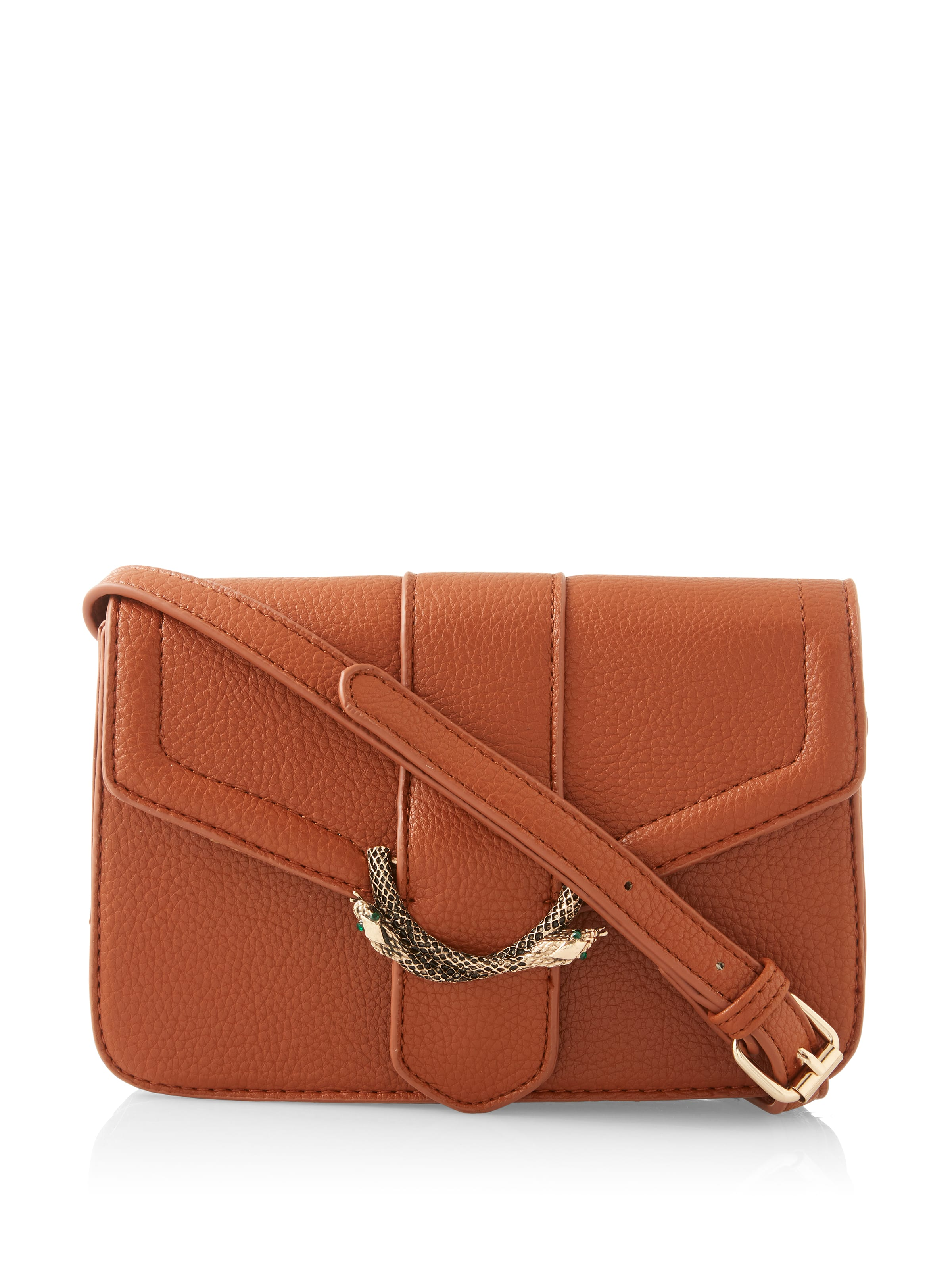 Snake Buckle Cross Body Bag